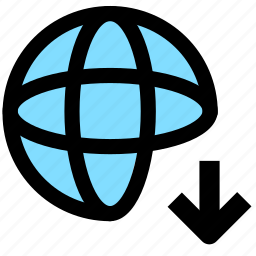 download, internet, network, web icon