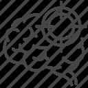 brain, diagnosis, focus, nervous system, neurology, neurosurgery, target icon