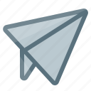 airplane, email, message, paper, plane, send, ship icon