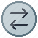arrows, direction, navigation, shuffle, sign, way icon