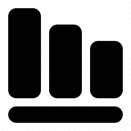 analytics, bar, chart, graph, loss, report, statistics icon