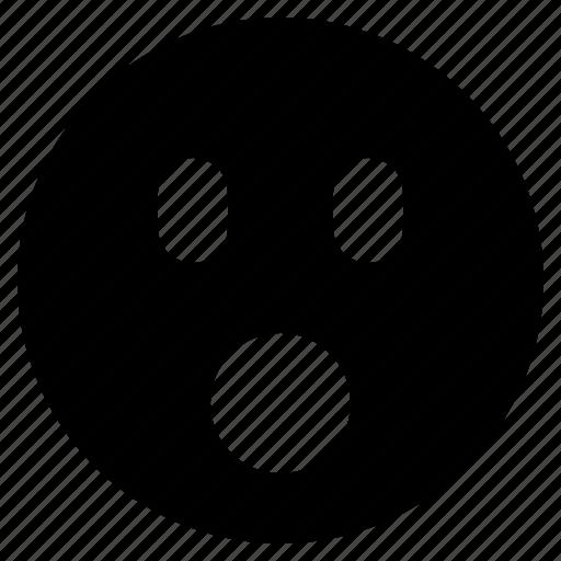 emoji, emoticon, emotion, face, gasp, shocked, surprised icon