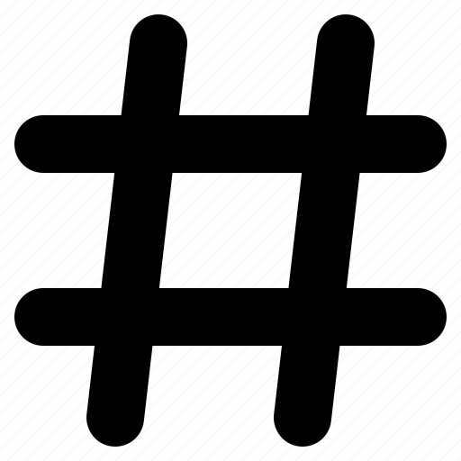 hashtag, hex number, popular, pound sign, social, topic, trending icon