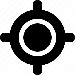 bullseye, crosshairs, gps, location, map, navigation icon