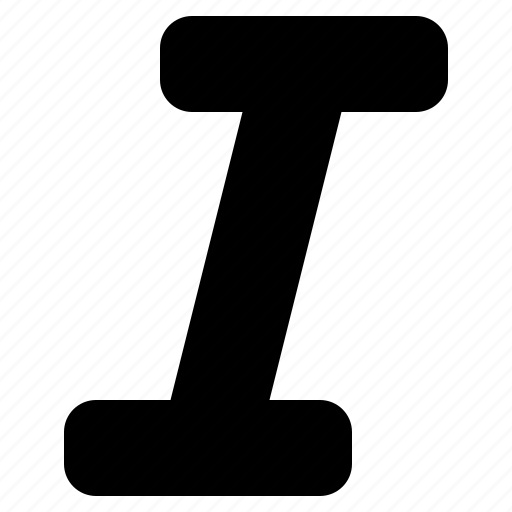 emphasis, format, italic, italicise, style, text icon