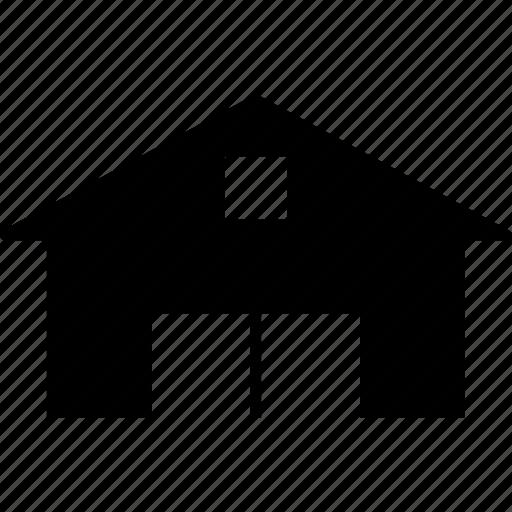 garage, home garage, house, property icon
