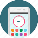 app, clock, mobile, time icon