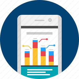 analytics, analytics app, app, mobile, report icon