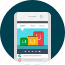 app, mobile, shop, shopping, shopping app, shopping cart, store icon