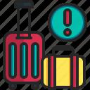 coronavirus, covid, avoid, traveling, bag, baggage, luggage