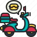 delivery, food, motorcycle, scooter, fast, work from home, service