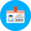 badge, bar code, label, protection, safe, secure, security agent icon