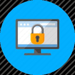 block, browser, online, protected navigation, safe desktop, security, website icon