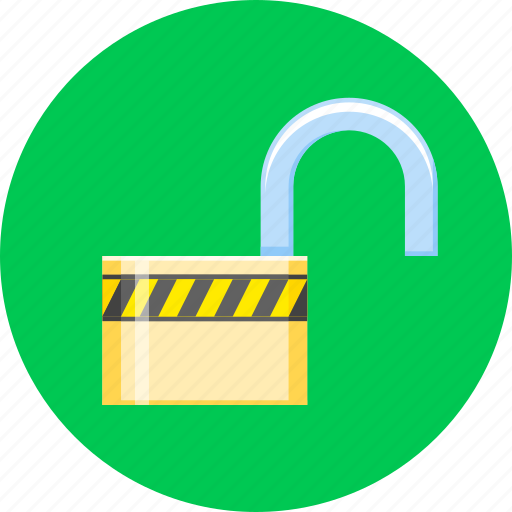 lock, open, protect, protection, safety, security, unlock icon