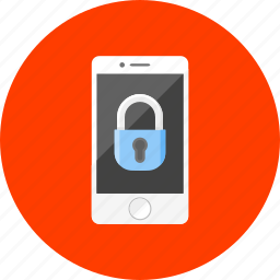 communication, lock, locked, password, phone, security, smartphone icon