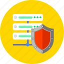 network, protect, protection, safety, security, server, shield icon