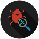 bug, fixing, mobile marketing, seo icons, seo pack, seo services, web design icon