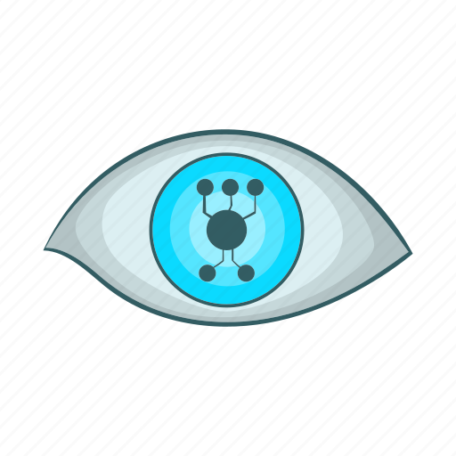 cartoon, concept, cyber, digital, eye, future, logo icon