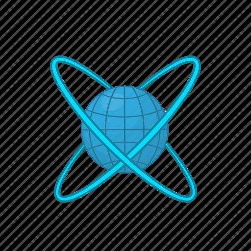 Around, cartoon, earth, future, globe, orbit, planet icon - Download on Iconfinder