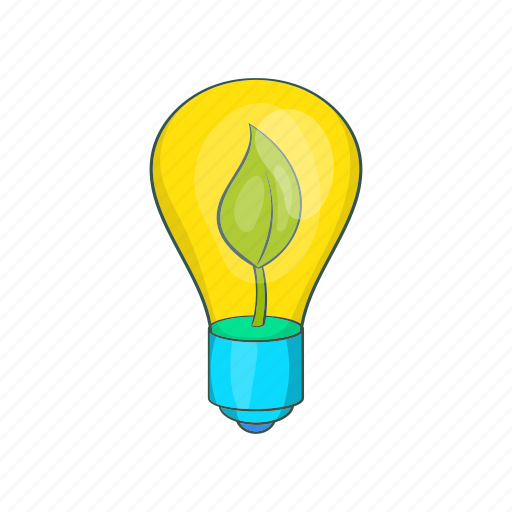 Bulb, cartoon, eco, future, green, lamp, light icon - Download on Iconfinder
