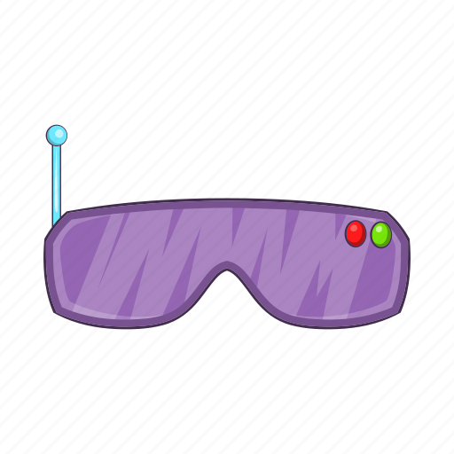Cartoon, future, glasses, goggles, headset, virtual, vr icon - Download on Iconfinder