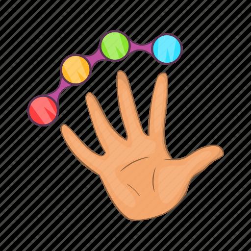 cartoon, color, decoration, future, hand, object, press icon