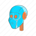 cartoon, future, head, man, mechanic, robot, technology icon