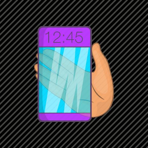 Cartoon, future, futuristic, glass, phone, smartphone, transparent icon - Download on Iconfinder