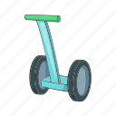 cartoon, future, segway, technology, transport, vehicle icon