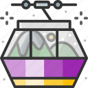 cable car, holidays, transportation, travel icon