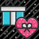 gift, giftbox, heart, love, present