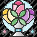 bouquet, flower bouquet, flowers, gift, valentine icon