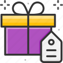 black friday, gift, gift box, present, sale icon