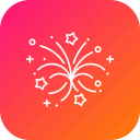 atasbaji, decoration, elements, fireworks, party icon