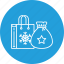 bag, celebration, gift, party, present, santa icon