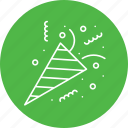 celebration, christmas, decoration, elements, party, popper icon