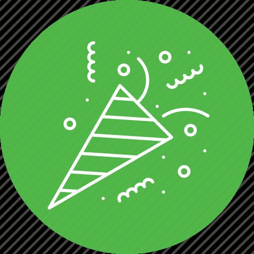 celebration, christmas, decoration, elements, party, popper icon