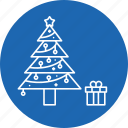 christmas, decoration, pine, tree, xmas icon