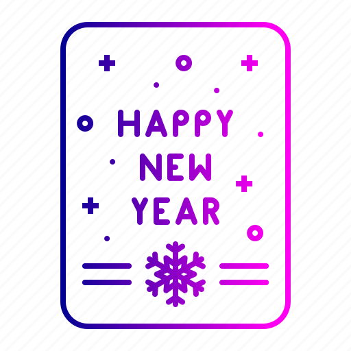 card, greetings, happy, new, wish, year icon