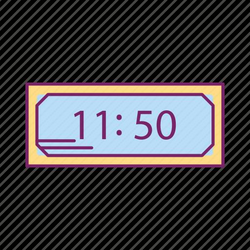 clock, digital clock, stopwatch, timer, watch icon