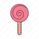 candy, lollipop, sugar, sweet icon