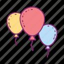 balloon, birthday, celebration, festival, gift icon