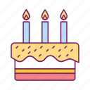 bakery, birthday cake, cake, cooking, food icon