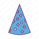 birthday, celebration, festival, gift, party hat icon