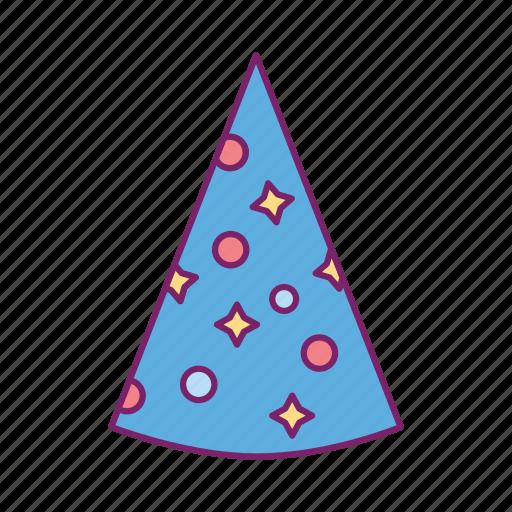 birthday, celebration, festival, gift, party hat icon