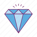 crystal, diamond, gemstone, jewelry, stone icon