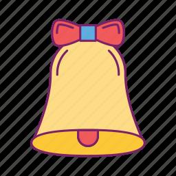 alert, attention, bell, caution, christmas, danger, error icon