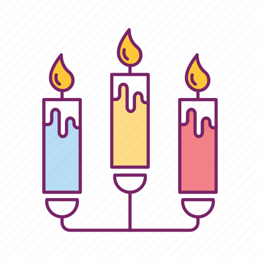 birthday, cake, candle, celebration, decoration, fire, flame icon