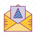 document, envelope, inbox, letter, post icon
