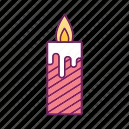 birthday, cake, candle, celebration, decoration, fire, flame icon